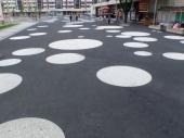 kruhové nášlapy - náměstí Vsetín